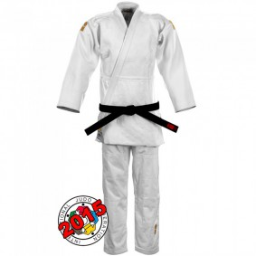 IJF approved Judo Suits - Judo Suits - kopen - Essimo IJF Gold 2017 Model White Slim Fit