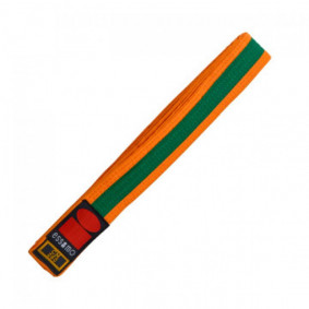 Judo Belts - Orange Judo Belts - kopen - Essimo Judo Belt Bicolor Orange/groen