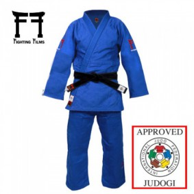 IJF approved Judo Suits - Judo Suits - kopen - Fighting Films Superstar 750 IJF 2017 Blue Slim Fit