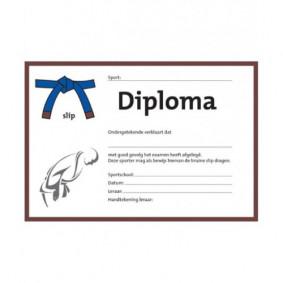 Accessories - Certificates - kopen - Judo Certificate Blauw/bruine Slip (per 25 Pieces)
