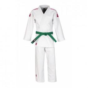 Judo Suits - Matsuru Judo Suits - kopen - Matsuru Judo Suit Semi Match Suit White With Pink Labels