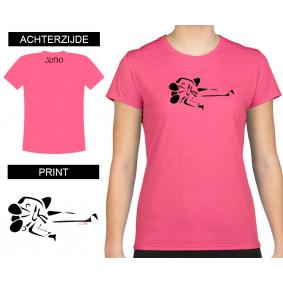 Leisure Wear - kopen - T-shirt Gatame Women Shocking Pink